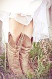 Cowgirlbrud royaltyfri fotografi
