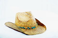 Cowgirlhut mit perlenbesetztem Hutband Stockbild
