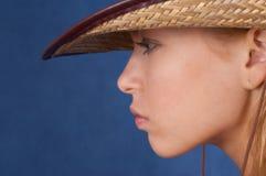 cowgirlmedel arkivbild