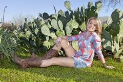 Cowgirlporträt lizenzfreie stockfotografie