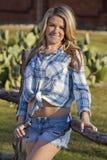 Cowgirlporträt Stockbild