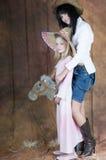 Cowgirlreiten Lizenzfreies Stockbild