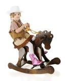 Cowgirlryttare Royaltyfri Bild
