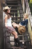 cowgirls Stock Afbeelding