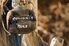 Cowgirls Rule! Royalty Free Stock Photography