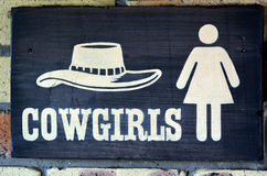 Cowgirls toilet Stock Photo