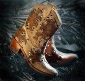 Cowgirlstiefel Lizenzfreie Stockbilder
