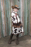 Cowgrl with gun Royalty Free Stock Photography