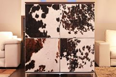 Cowhide cabinet Stock Photo