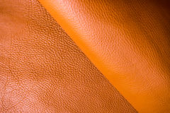 Cowhide leather background craftsmanship for handmade work Stock Photos