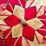 Cowl lid. A cone-shaped cover made of bamboo for keeping food away from flies Royalty Free Stock Photography