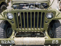 Cowl of military car Royalty Free Stock Photos