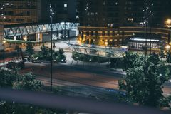 Cowles Commons from above in Des Moines, Iowa stock photos