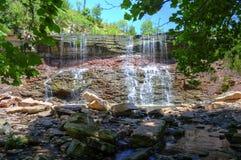 Cowley湖瀑布 图库摄影