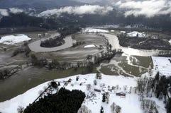Cowlitz River flood, Washington state Stock Photo