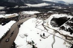 Cowlitz River flooding, Washington state Royalty Free Stock Photo