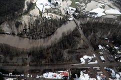 Cowlitz River flooding, Washington state Royalty Free Stock Image