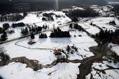 Cowlitz River flooding, Washington state Royalty Free Stock Images