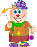 Cown with umbrella Stock Images