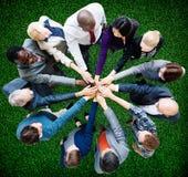 Coworker Team Concept för samarbete för affärsfolk Arkivbilder