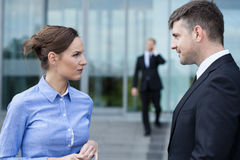 Coworkers during a conversation Royalty Free Stock Photo