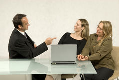 Coworkers at Desk Royalty Free Stock Photos