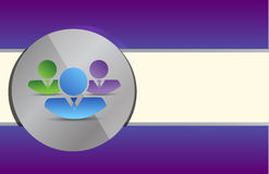 Coworkers on a grey circle Royalty Free Stock Image