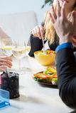 Coworkers having a break for lunch Stock Photography