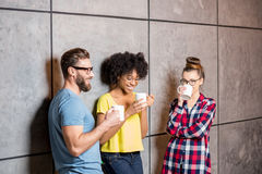 Coworkers having a coffee break Royalty Free Stock Images