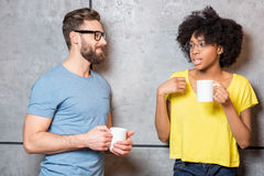 Coworkers having a coffee break Stock Photography