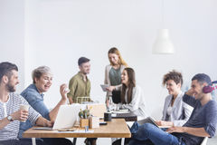 Coworkers having a good time Royalty Free Stock Photo