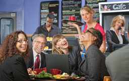 Coworkers at Lunch Laughing Royalty Free Stock Photo