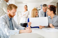 Coworkers planning startup goals Stock Photography