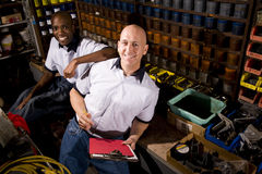 Coworkers in printshop Royalty Free Stock Photos