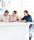 Coworkers working in their office Royalty Free Stock Image