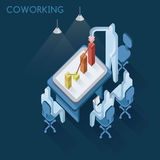 Coworking business and benefit of graph Royalty Free Stock Image