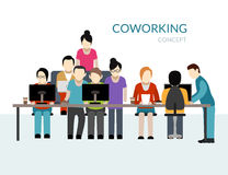 Coworking Center Concept Royalty Free Stock Images