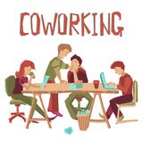 Coworking Center Concept Stock Photography
