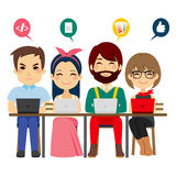 Coworking Center Team royalty free illustration