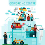 Coworking Centre Composition Stock Photo