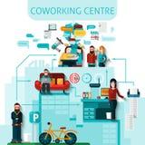 Coworking Centre skład ilustracja wektor