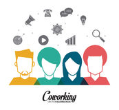 Coworking-Ikonendesign Stockfotografie