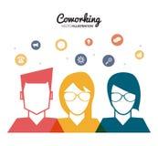 Coworking-Ikonendesign Lizenzfreies Stockbild
