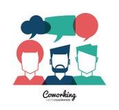 Coworking-Ikonendesign Stockbild
