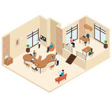 Coworking Isometric Center Concept Royalty Free Stock Images