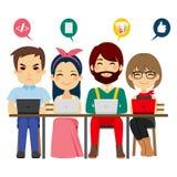 Coworking-Mitte-Team lizenzfreie abbildung