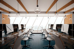 Coworking office interior side Royalty Free Stock Photos