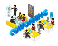 Coworking office people business man. Royalty Free Stock Photos