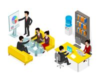 Coworking office people business man. Stock Images