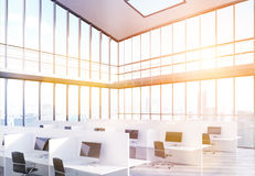 Coworking office sideview toning Royalty Free Stock Images